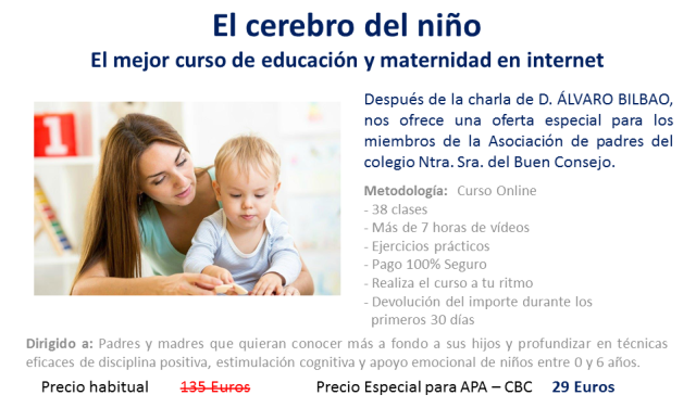 Curso on-line El cerebro del niño