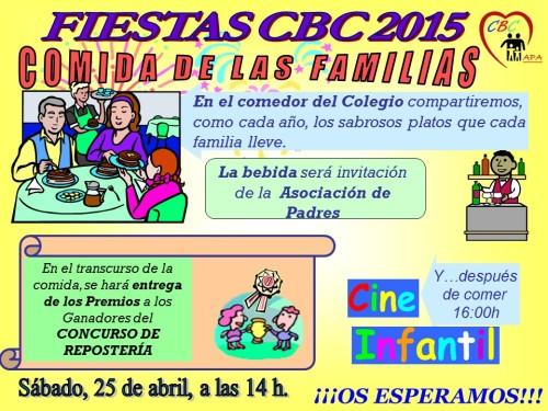 Cartel Comida Familias 2015