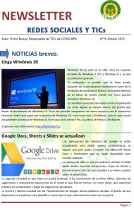 Newsletter Redes Sociales y TICs - Oct 2015