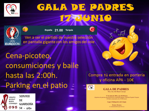 GALA DE PADRES 2016-CARTEL