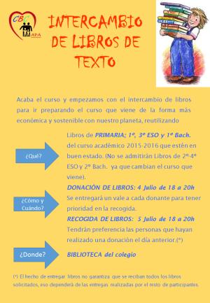 INTERCAMBIO DE LIBROS DE TEXTO 2016